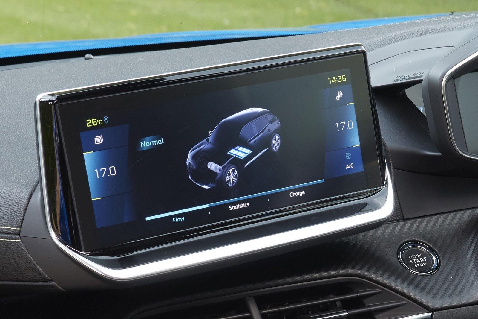 Peugeot e-2008 2020 RHD infotainment