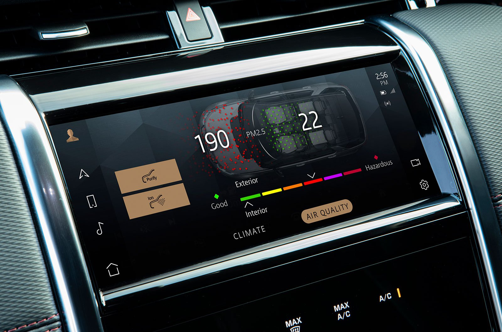 Land Rover Discovery Sport Model Year 2021 infotainment screen