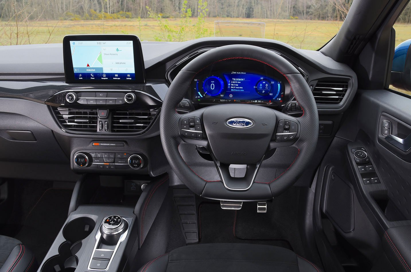 Ford Kuga PHEV dashboard