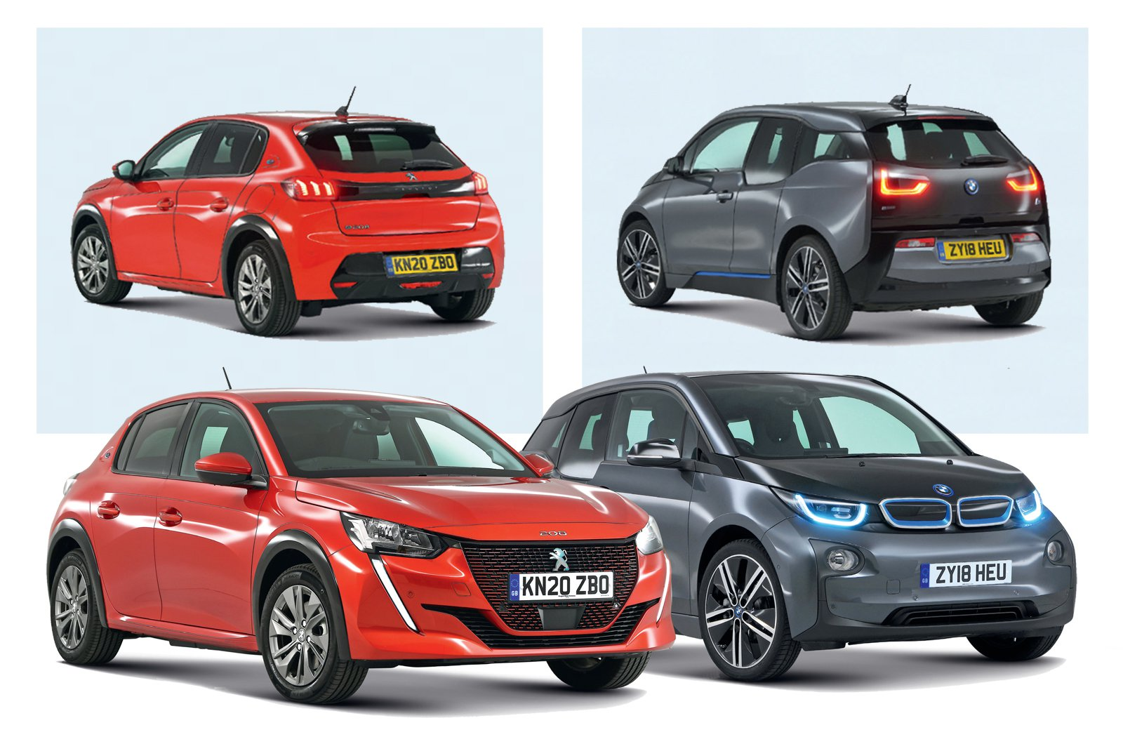 New Peugeot e-208 vs used BMW i3
