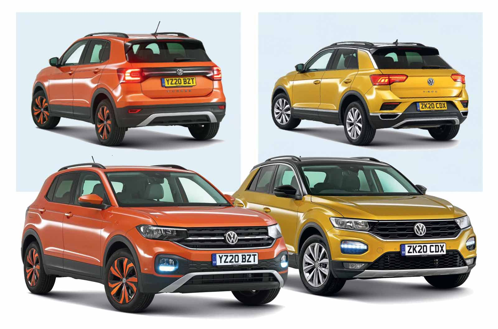 Volkswagen T-Cross vs Volkswagen T-Roc