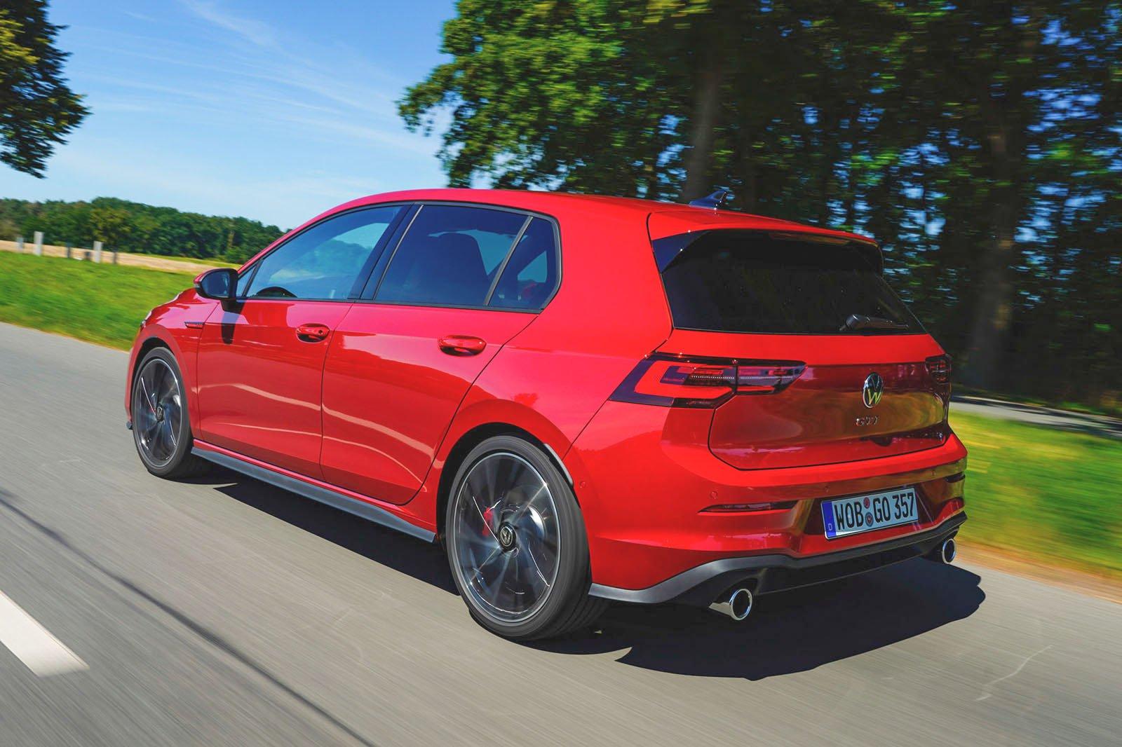 2020 Volkswagen Golf GTI rear corner driving