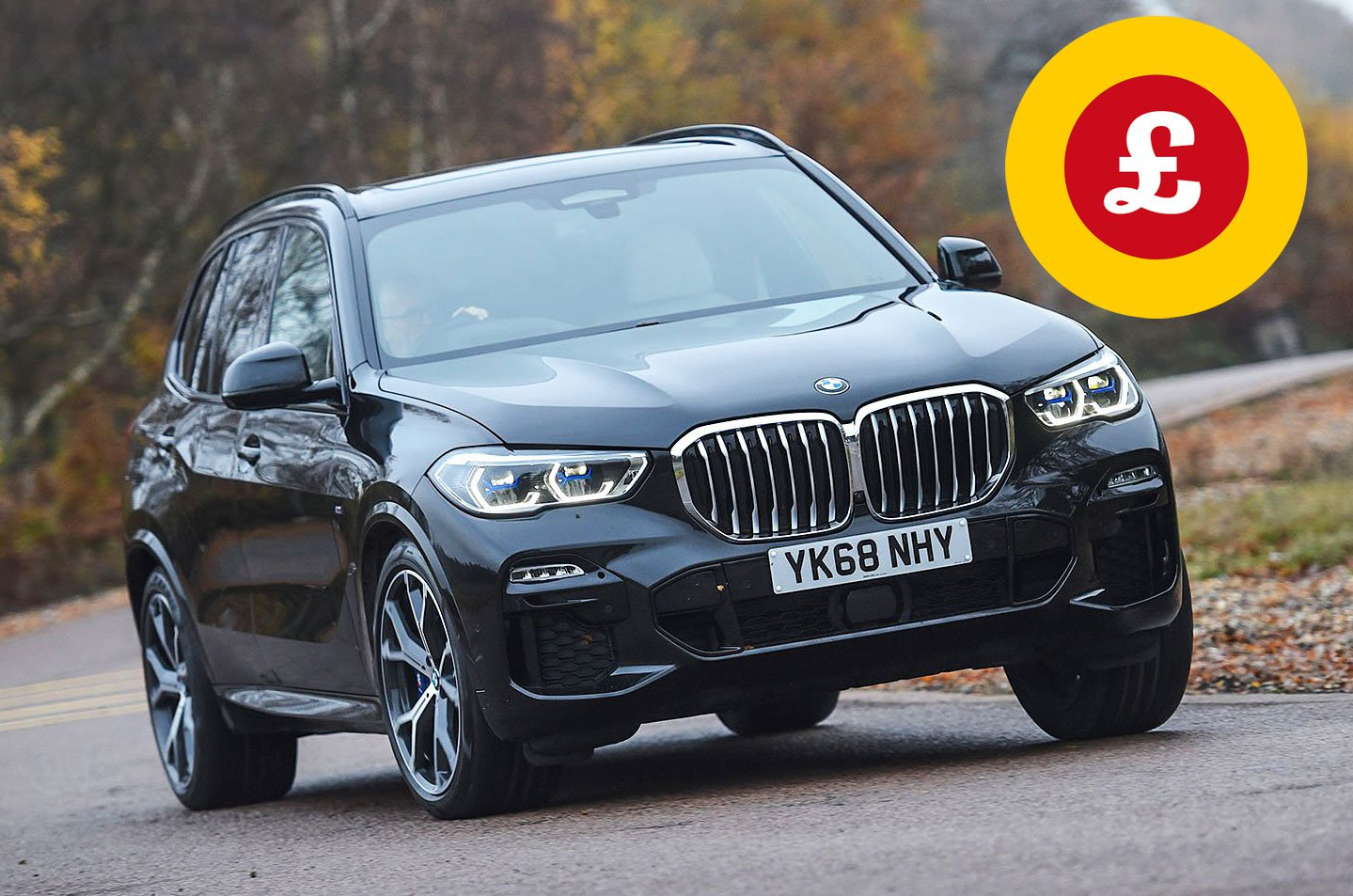 BMW X5 with Target Price logo