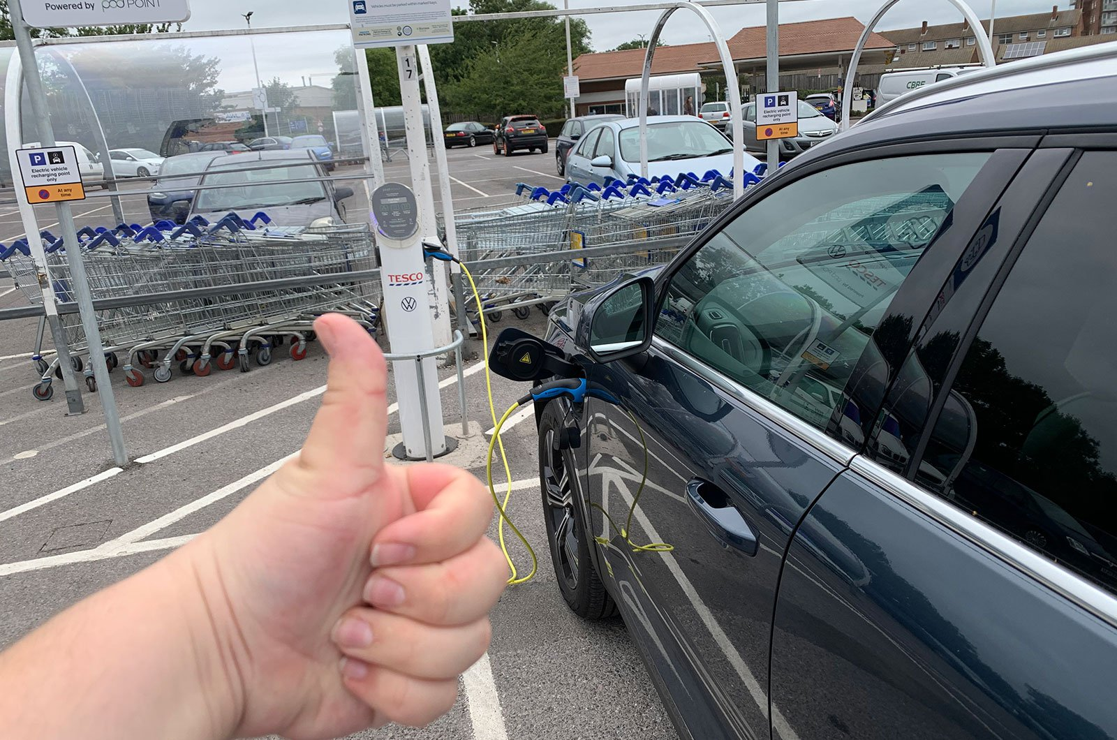 Volvo XC40 plugged in to charge