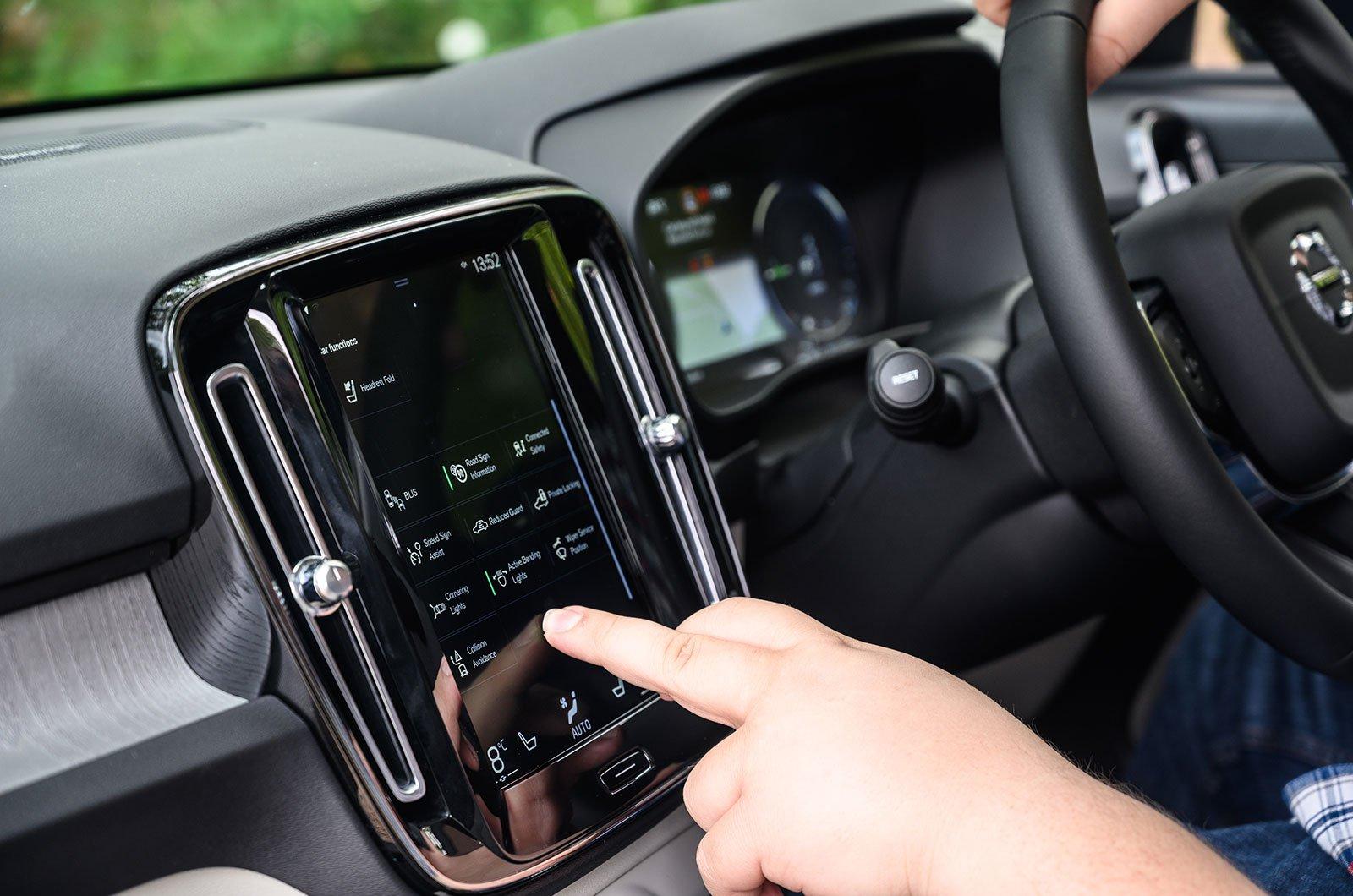 Volvo XC40 infotainment screen