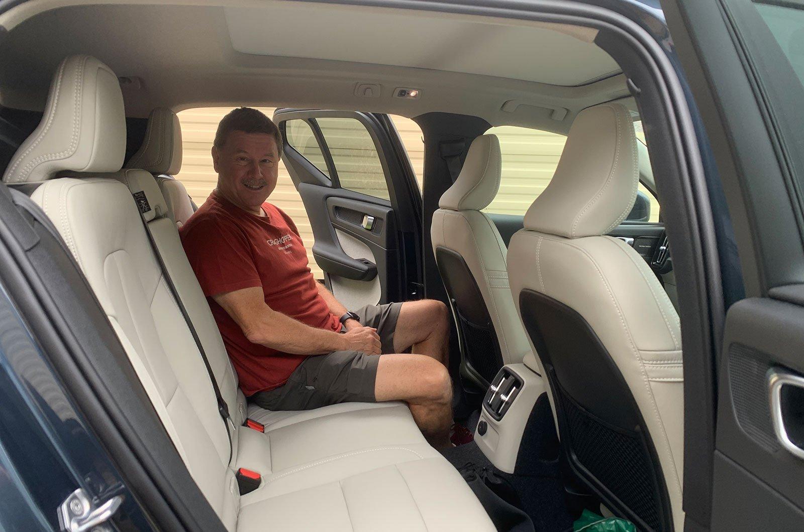 Darren's Dad in the Volvo XC40