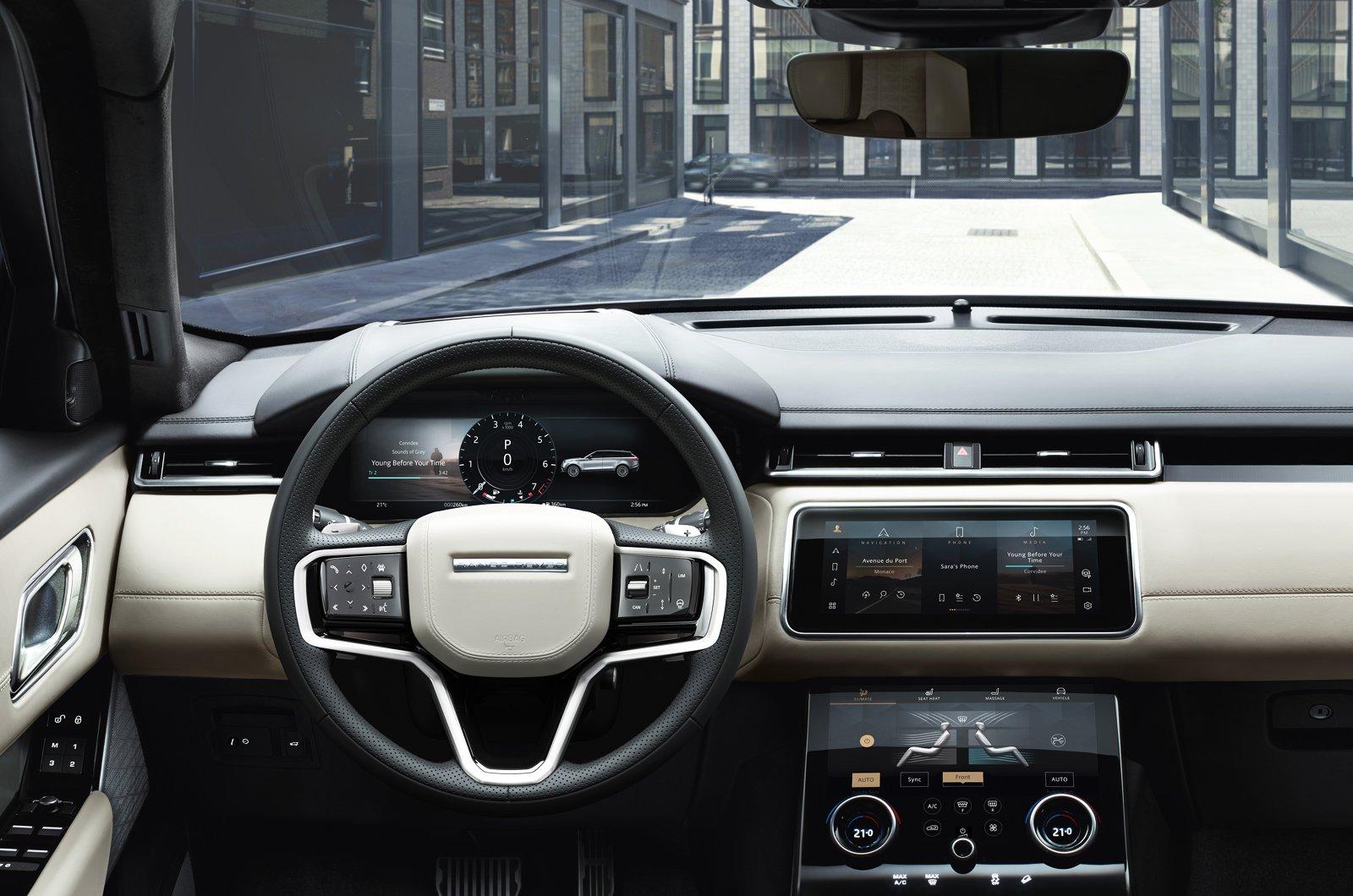 2021 Range Rover Velar dashboard