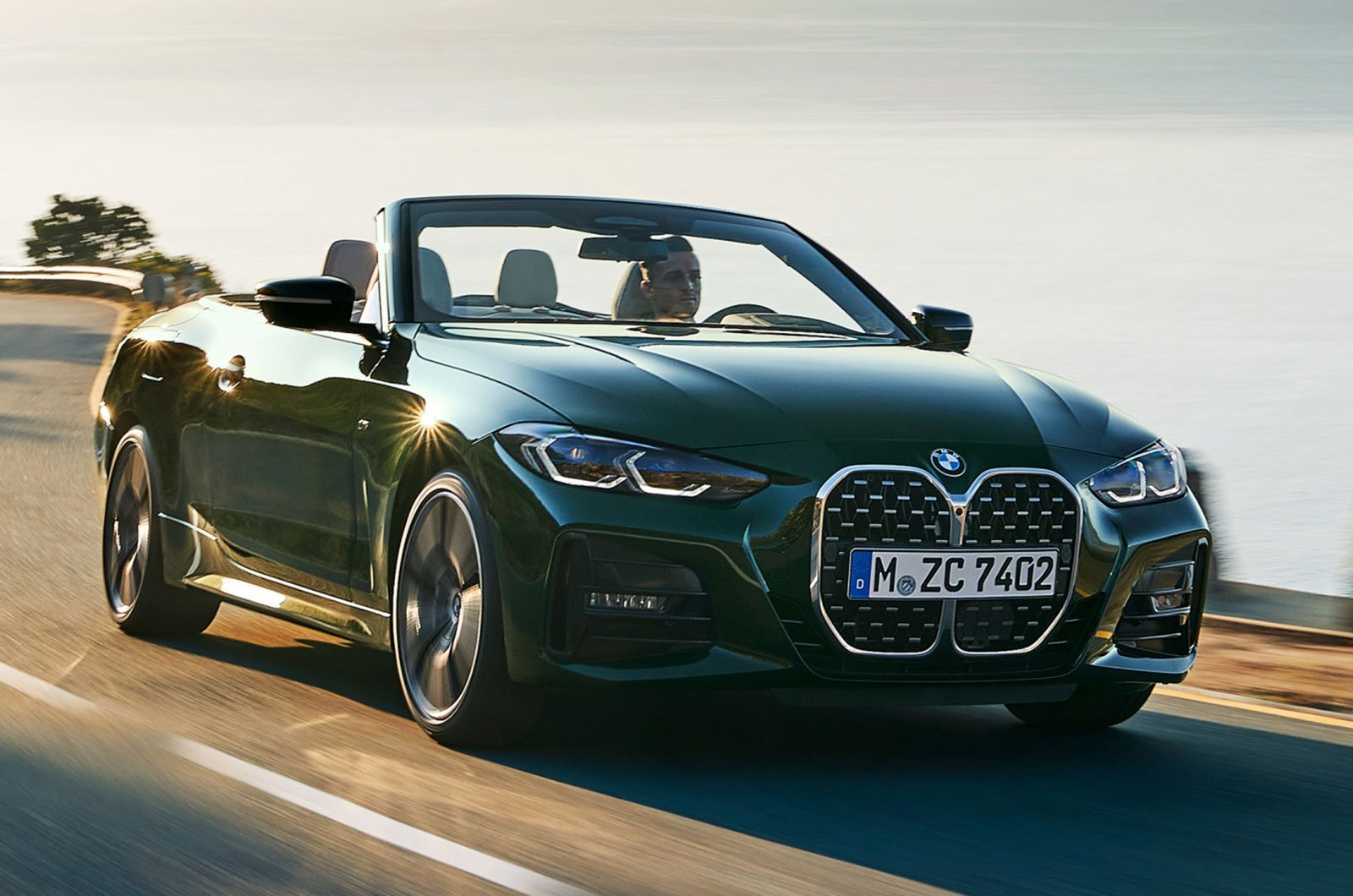 2021 BMW 4 Series Convertible front