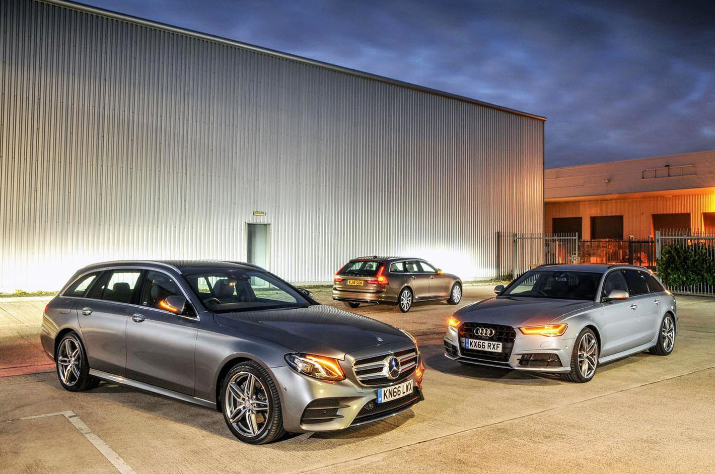 Audi A6 Avant vs Mercedes E-Class Estate vs Volvo V90