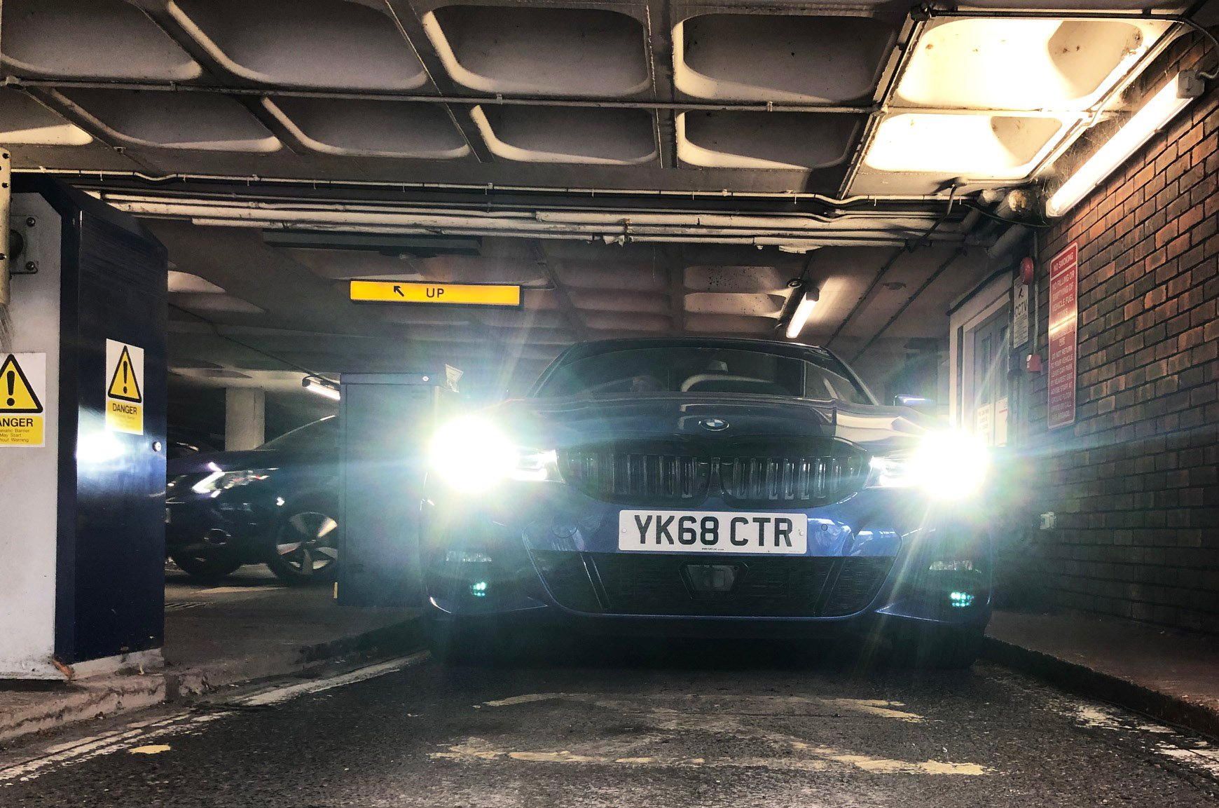 BMW 3 Series in multi-storey car park