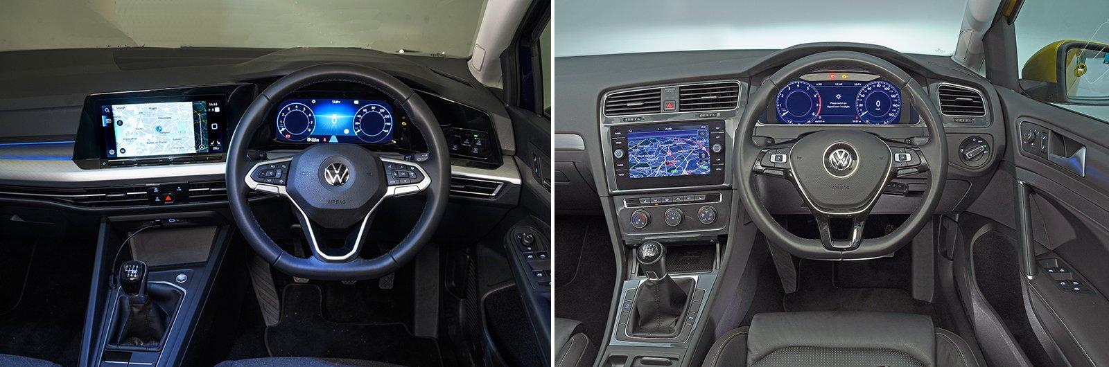 New Volkswagen Golf vs used Volkswagen Golf - interior