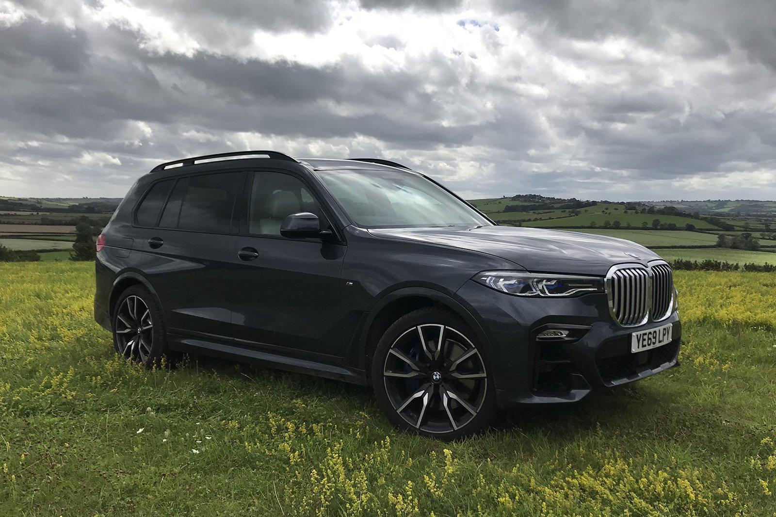 2020 BMW X7 long termer in a field