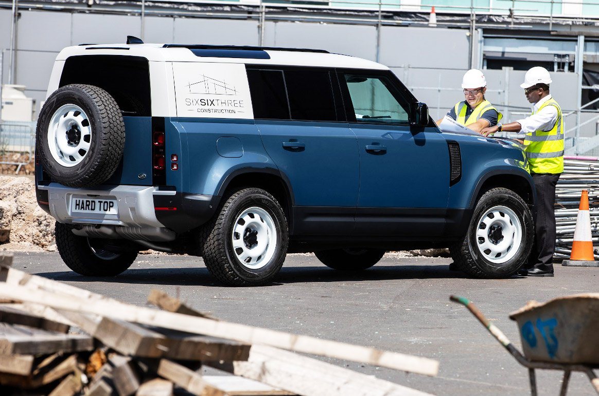Land Rover Defender Hard Top on construction site