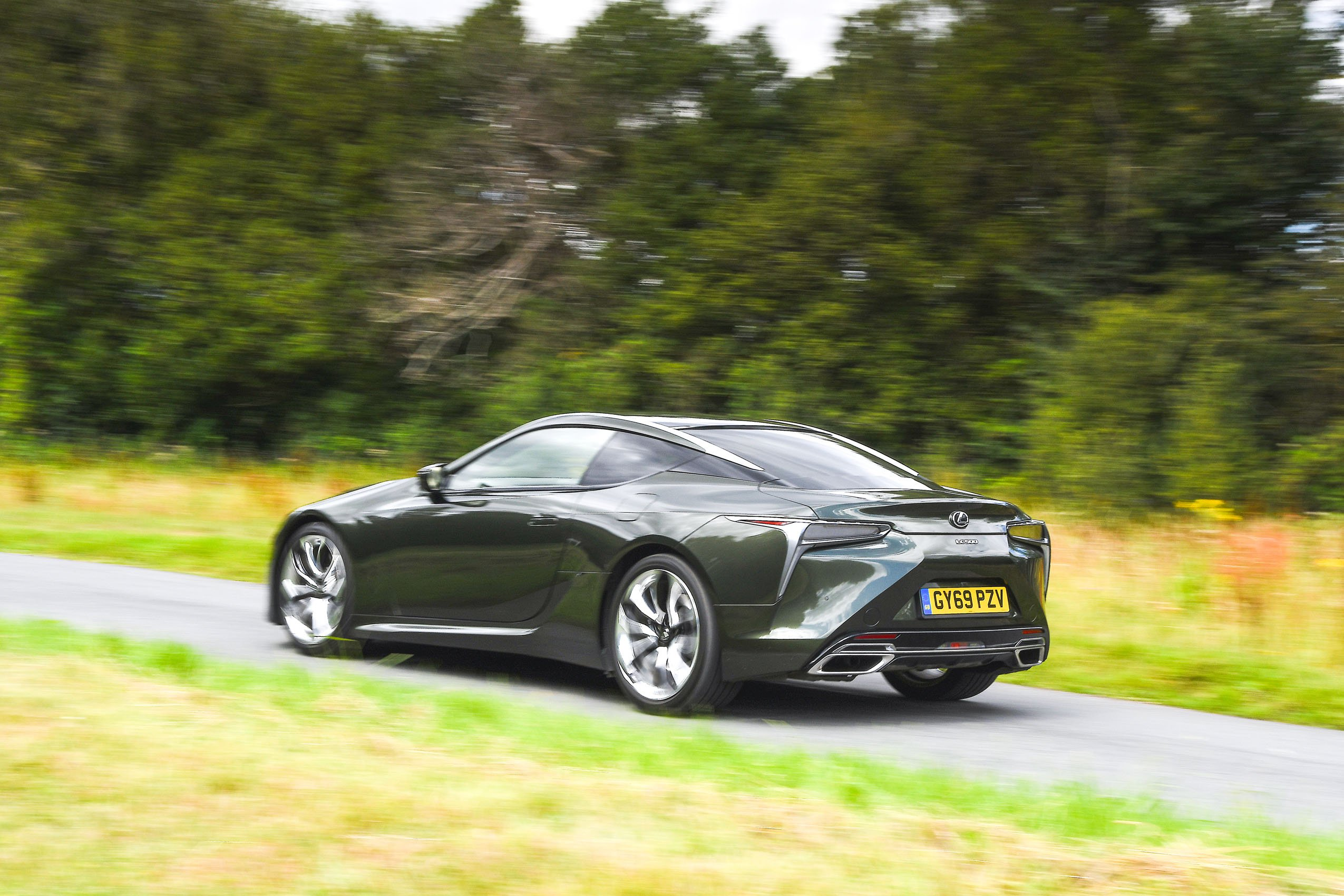 Lexus LC 500 2020 rear left tracking