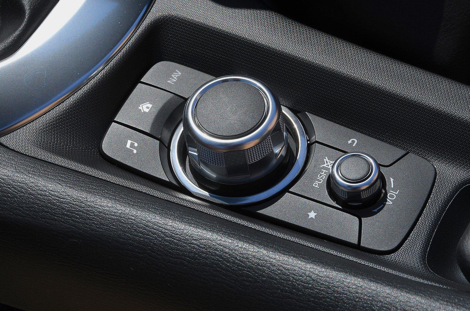 Long term Mazda MX-5 infotainment shortcut buttons