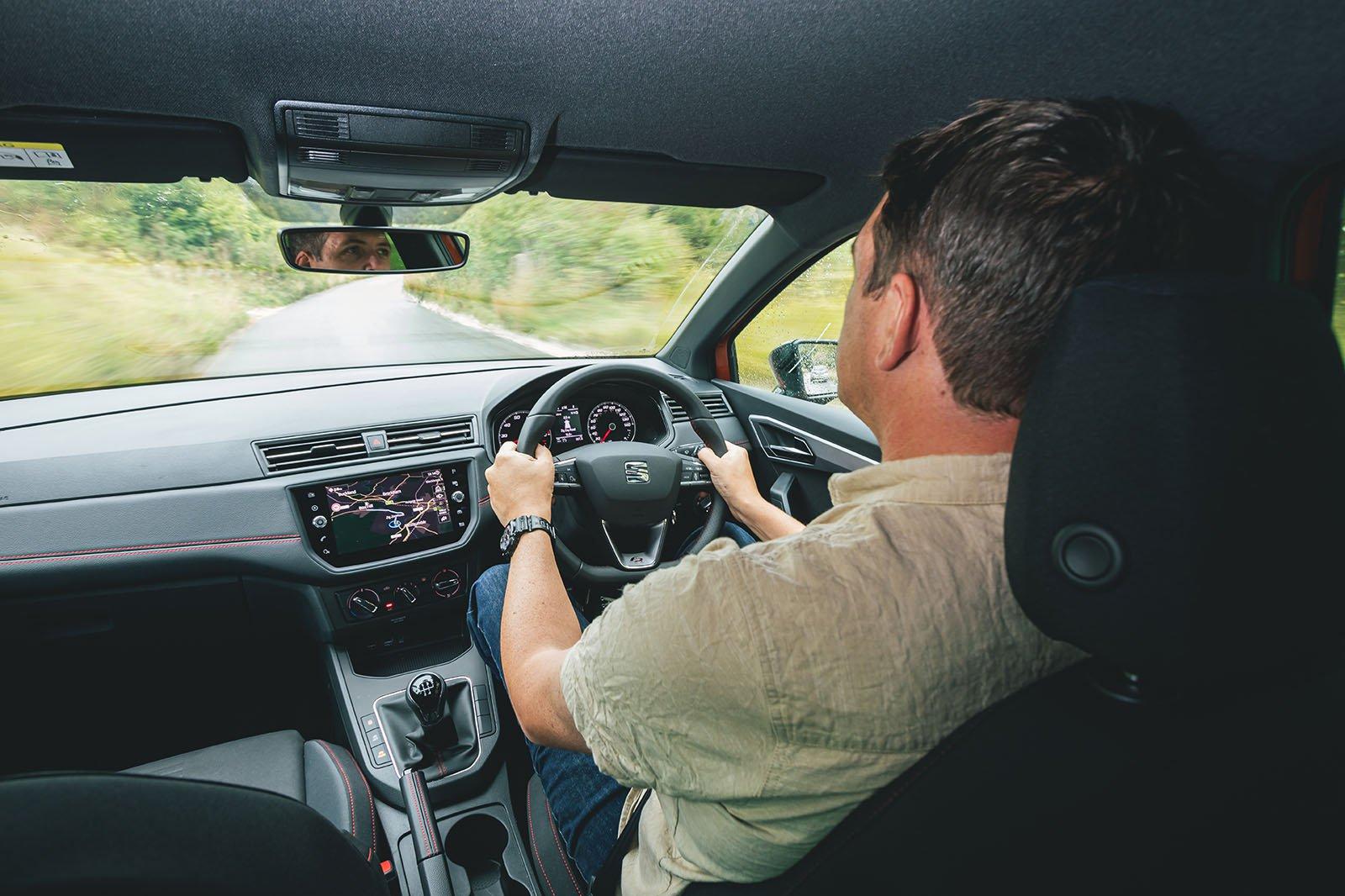 Seat Ibiza FR long-termer Chris Haining driving