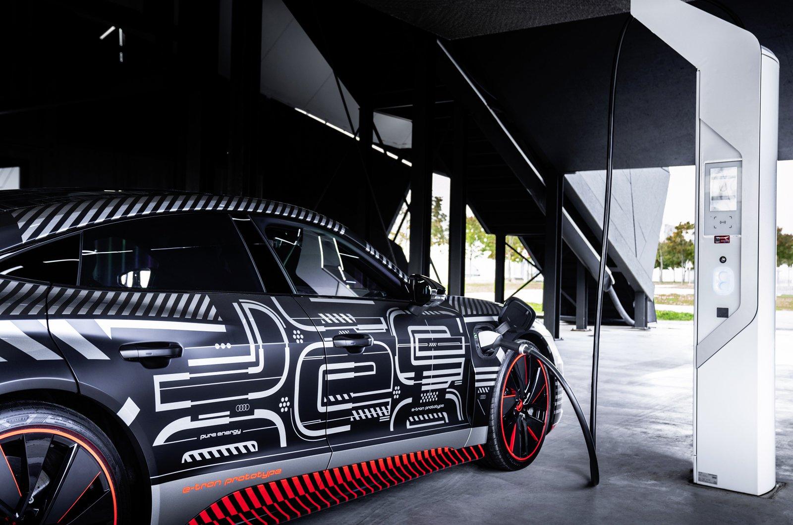Audi E-tron GT prototype charging