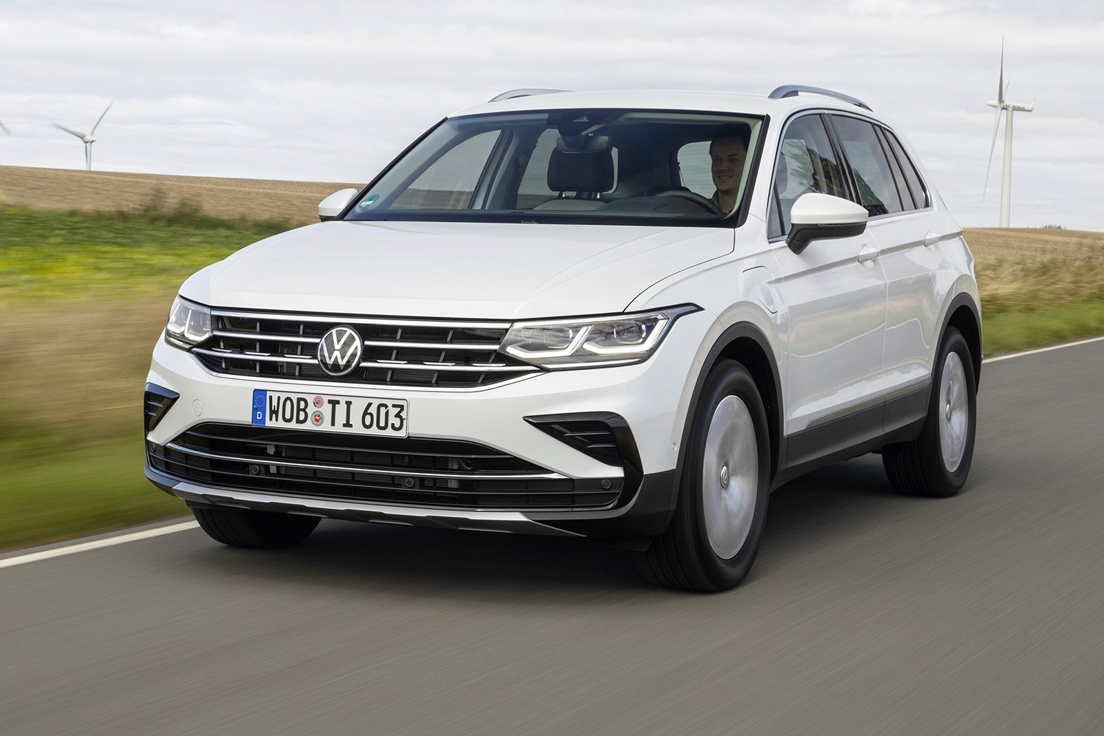 2021 VW Tiguan eHybrid with wind turbines