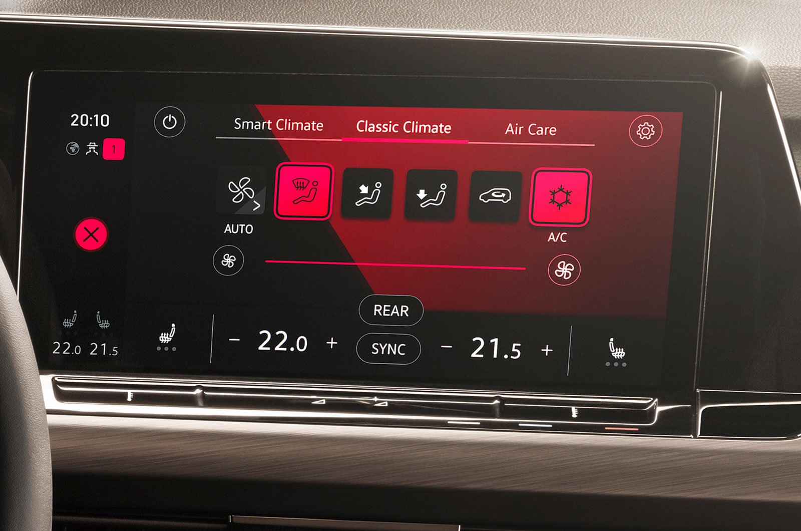 Volkswagen Golf climate control system