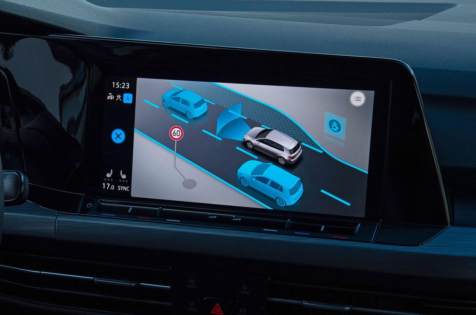 Volkswagen Golf blind spot monitoring system