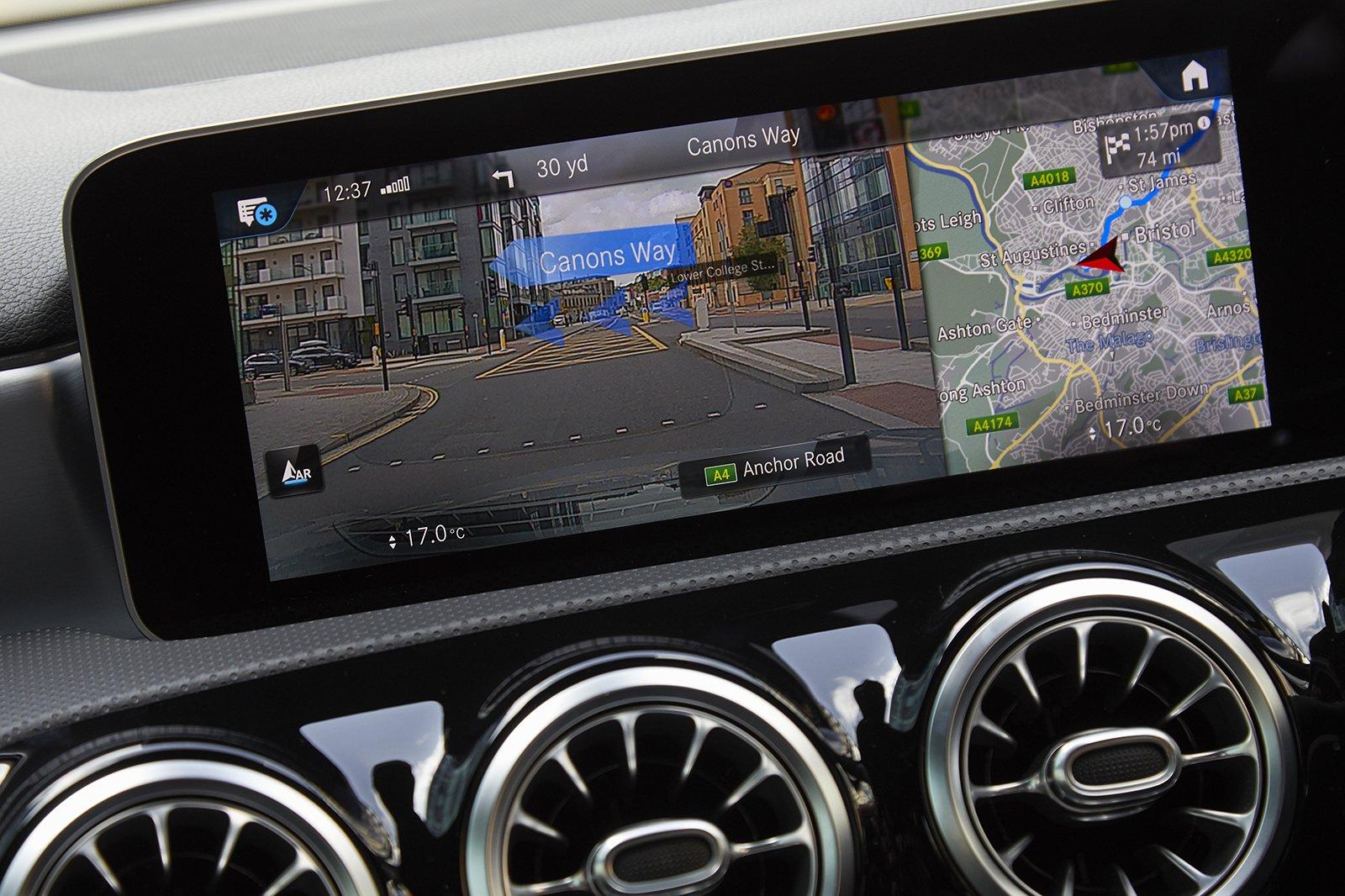 Mercedes A-Class Saloon 2020 infotainment