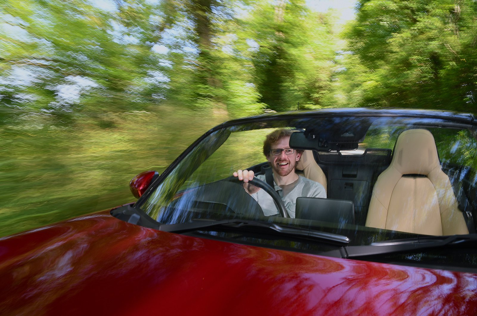 Used Mazda MX-5 with an idiot behind the wheel