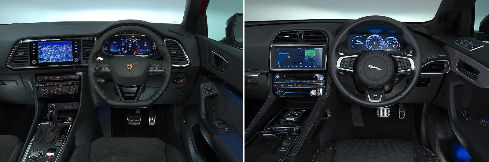 New Cupra Ateca vs used Jaguar F-Pace interior