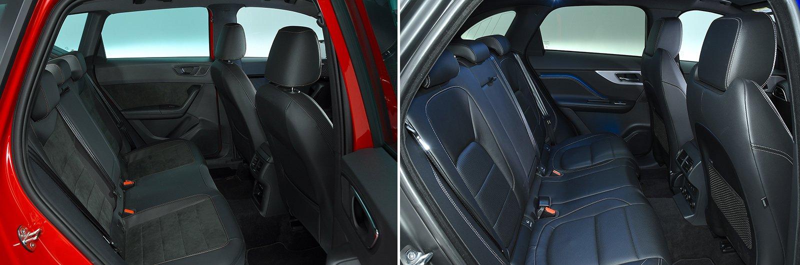New Cupra Ateca vs used Jaguar F-Pace rear seats