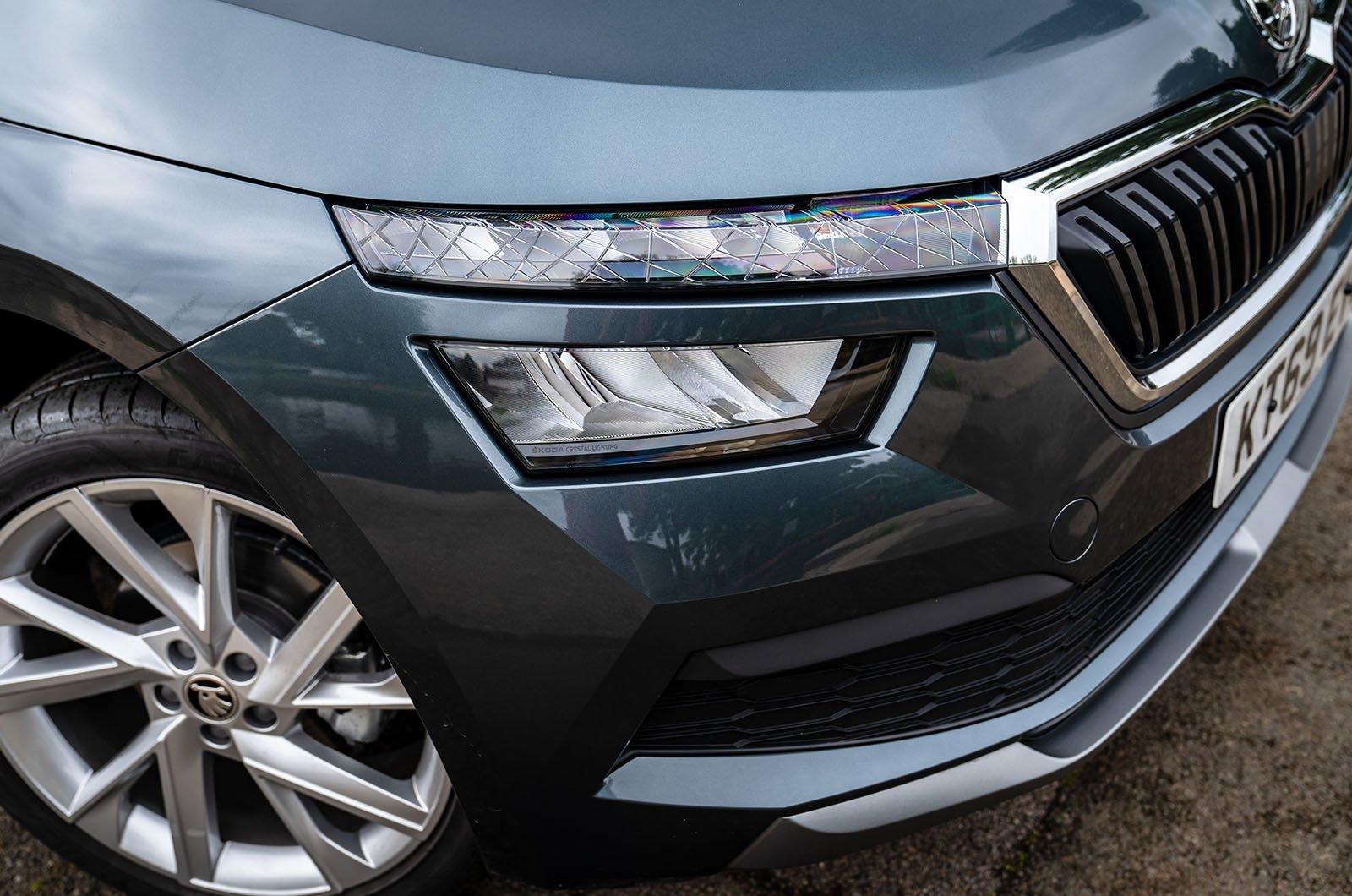 Skoda Kamiq front headlight detail
