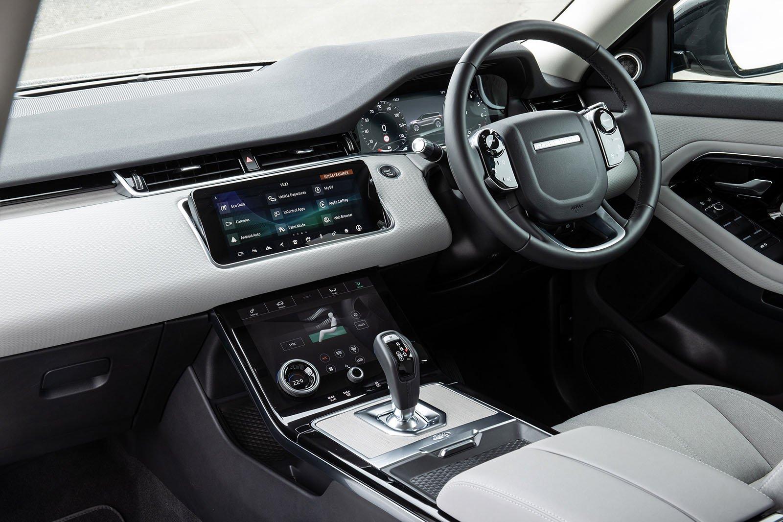 Range Rover Evoque 2021 gösterge tablosu