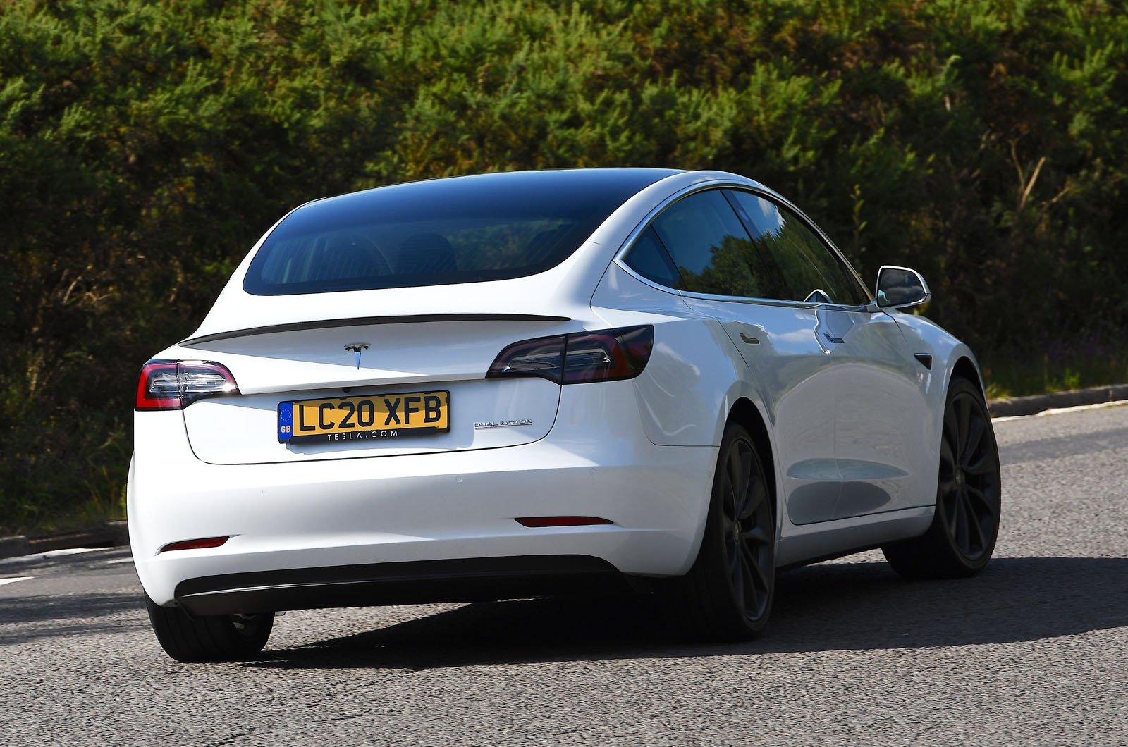 Tesla Model 3 rear cornering
