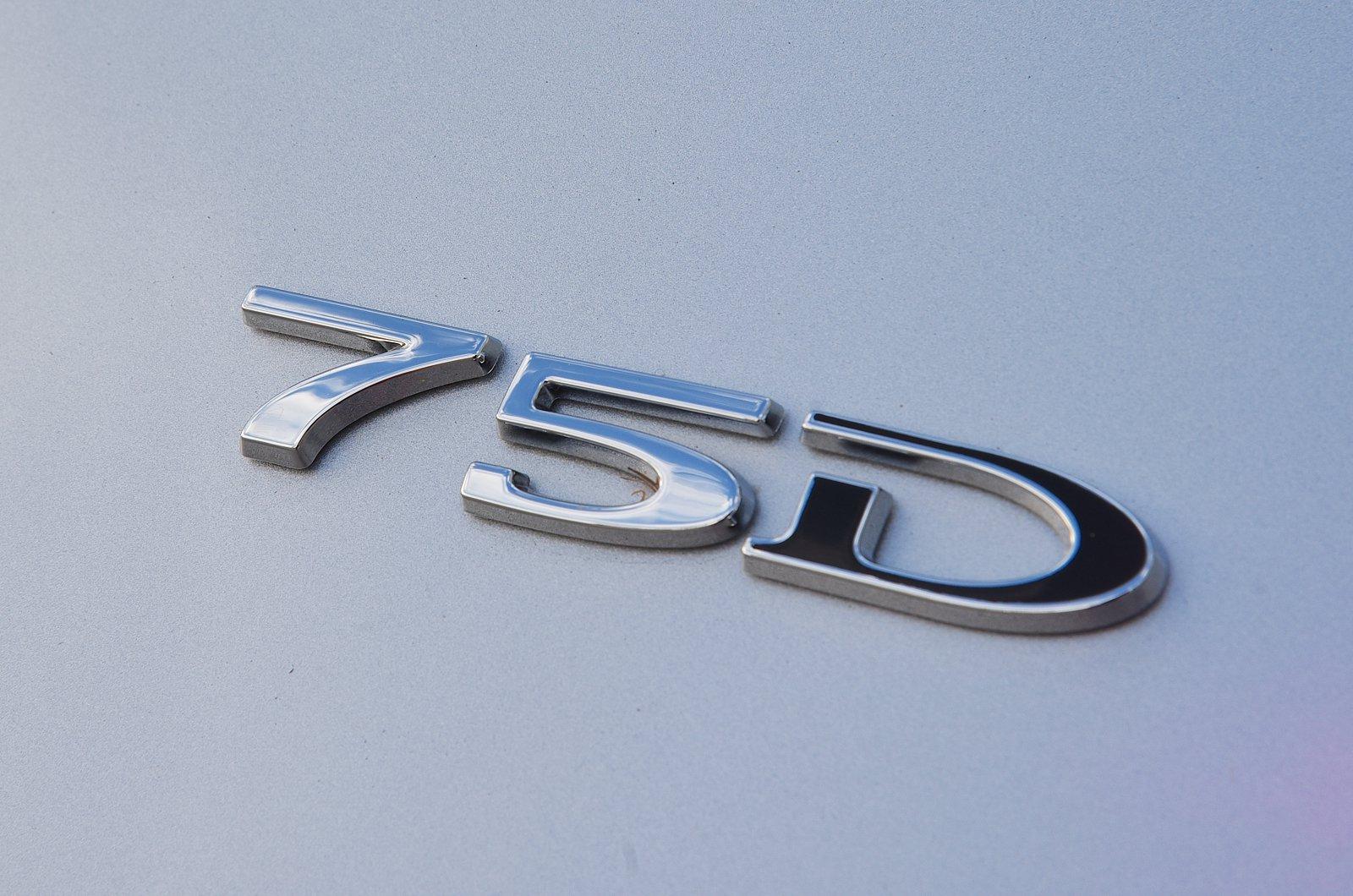 Tesla Model S 75D badge