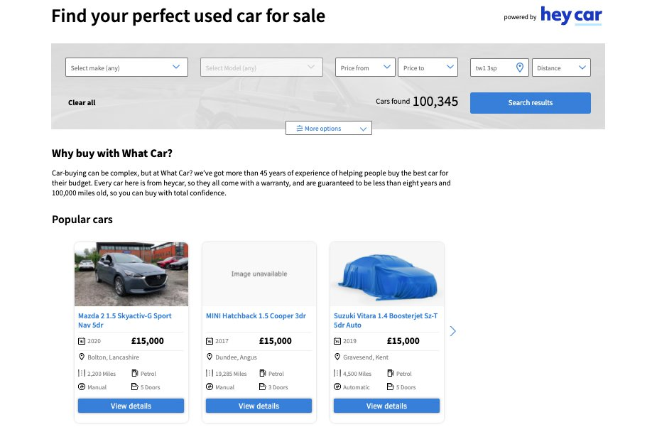 Used Car Buying home page