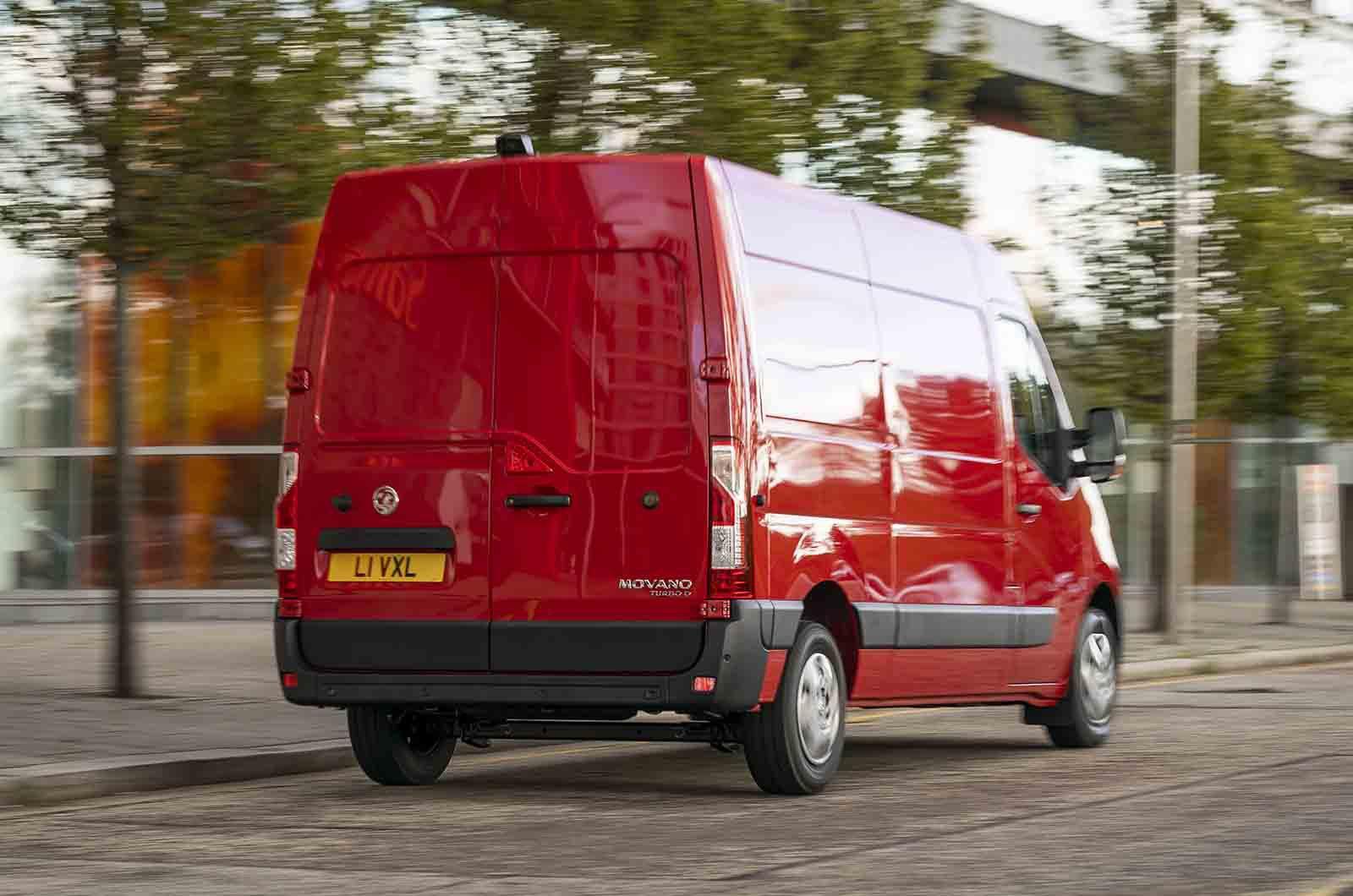 Vauxhall Movano rear action photo