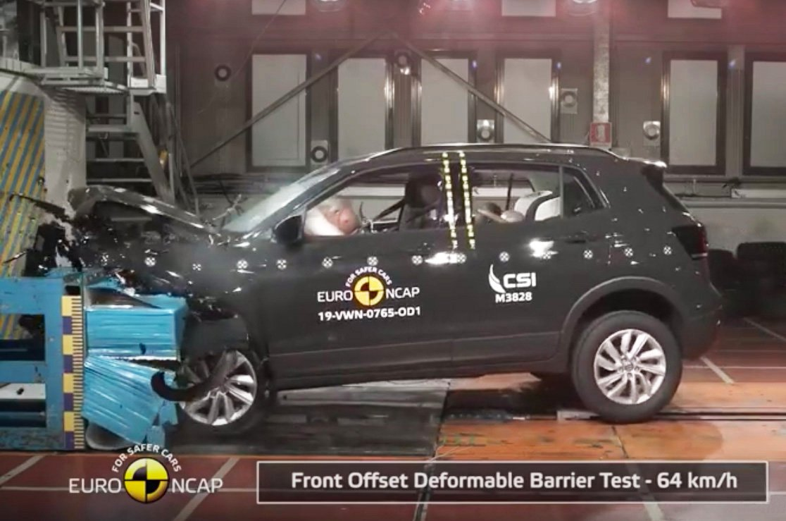Volkswagen T-Cross Euro NCAP crash test