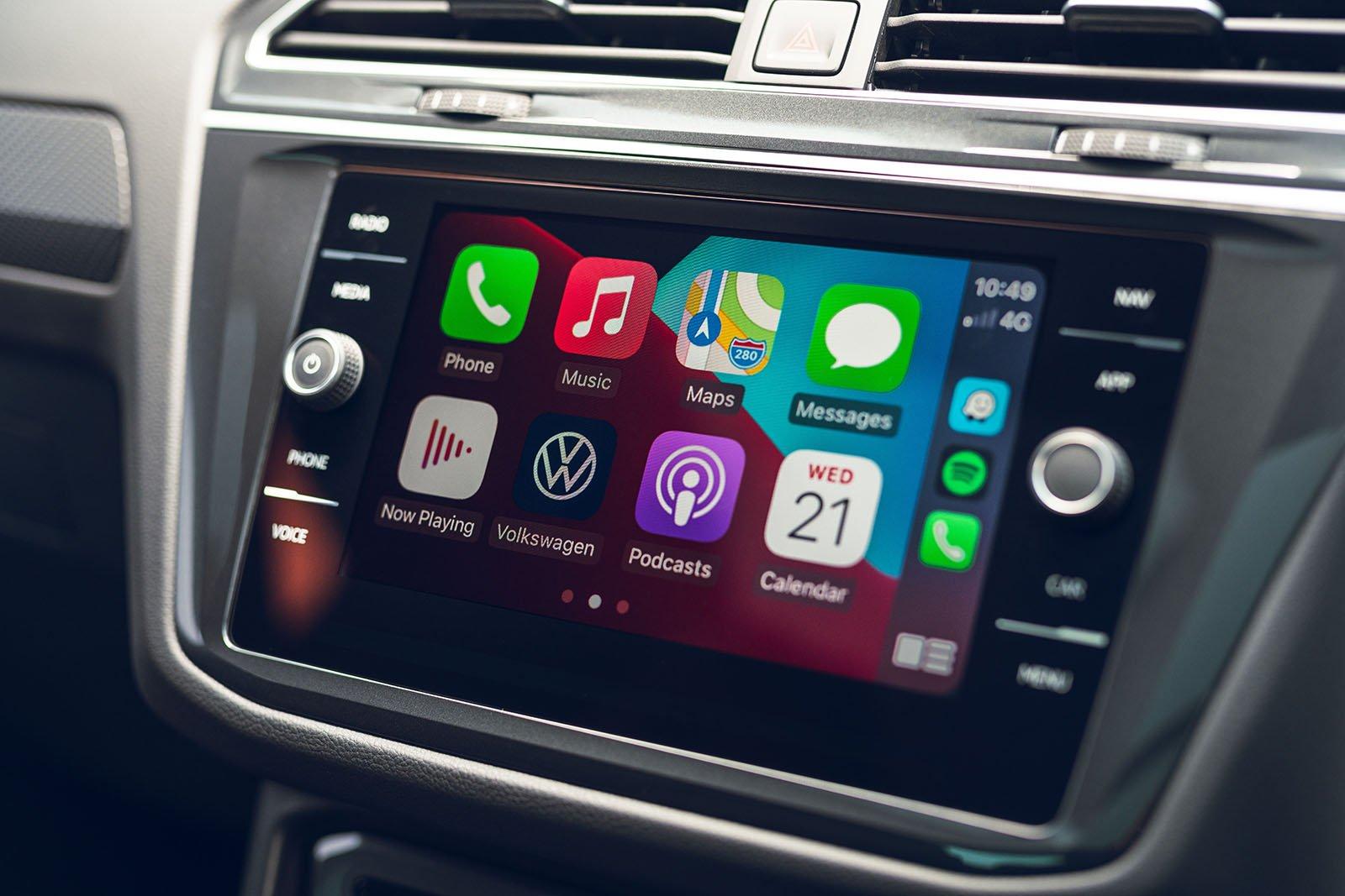Volkswagen Tiguan 2021 Infotainment panel