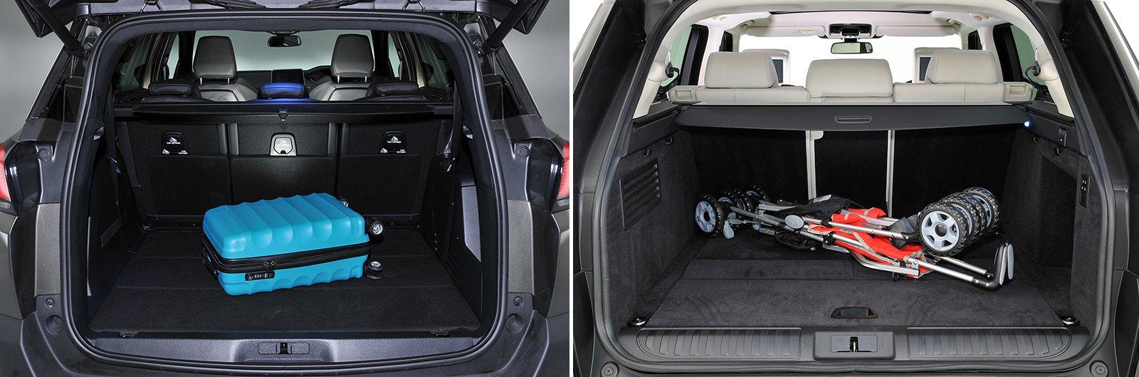 New Peugeot 5008 vs used Range Rover Sport boot