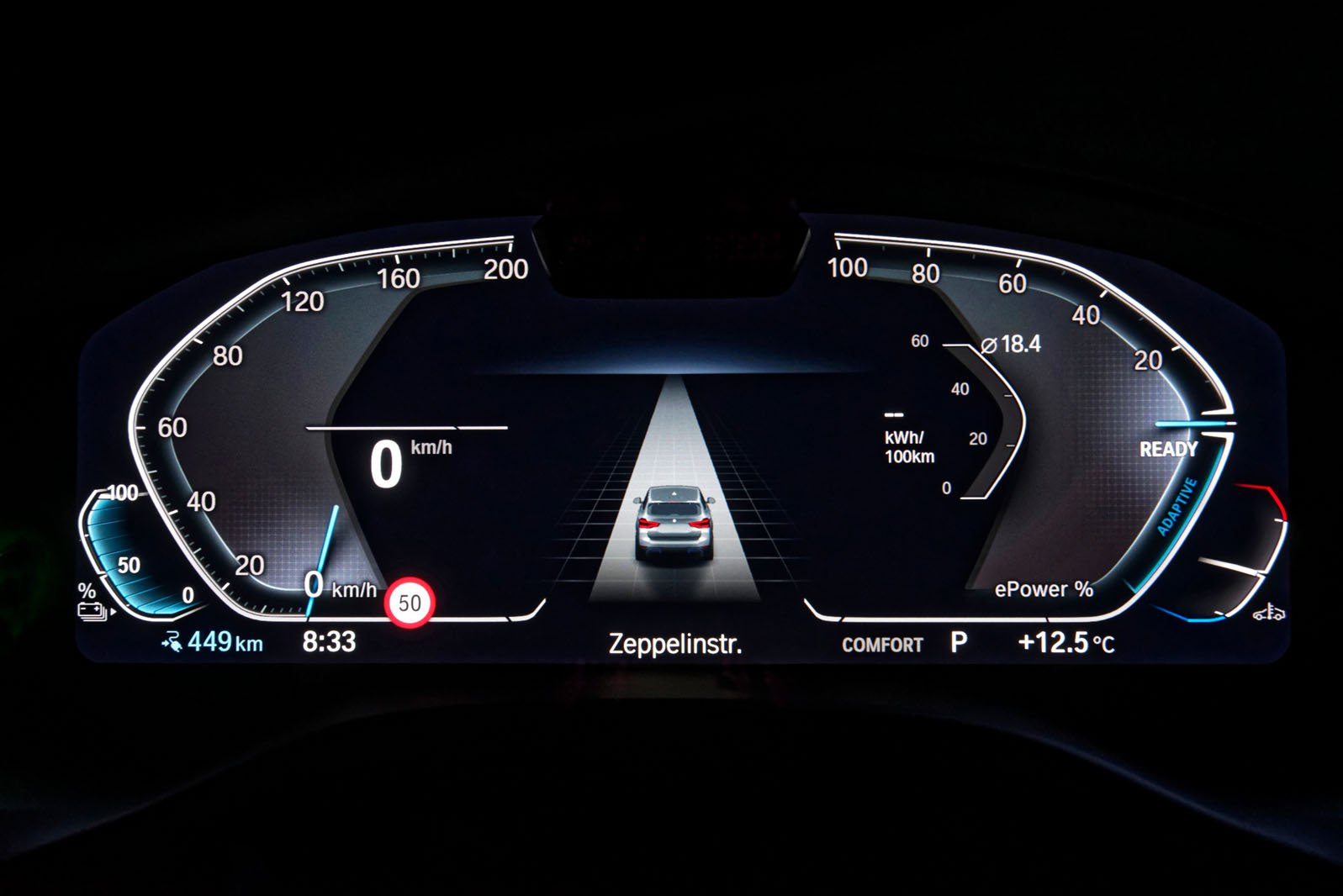 BMW iX3 2020 instrument cluster