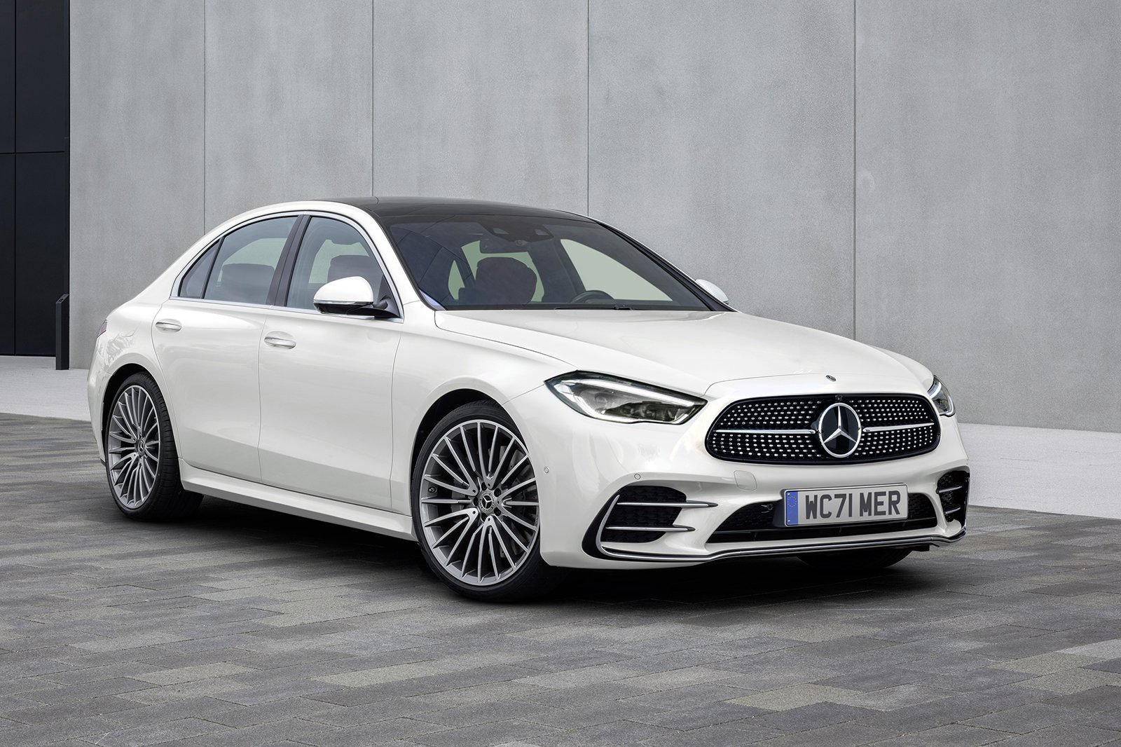2021 Mercedes C-Class with background