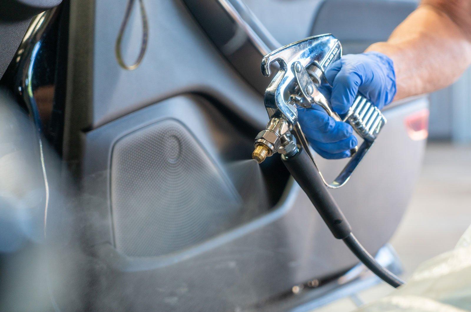 Disinfecting car