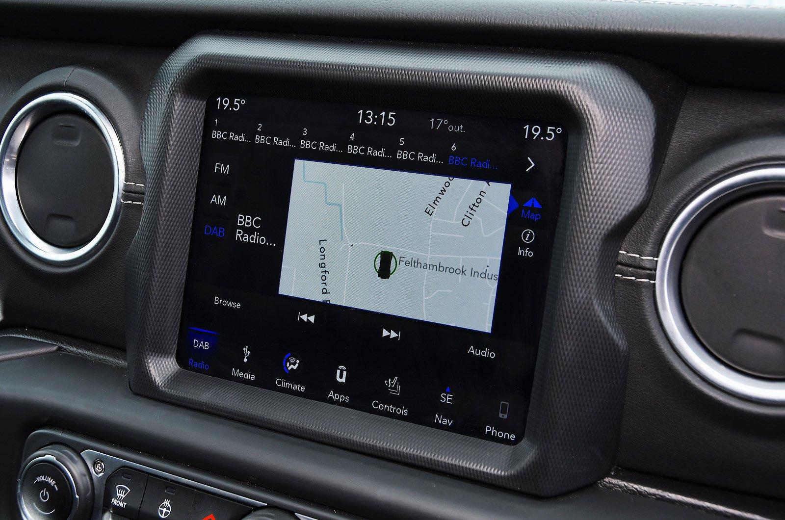 Jeep Wrangler touchscreen