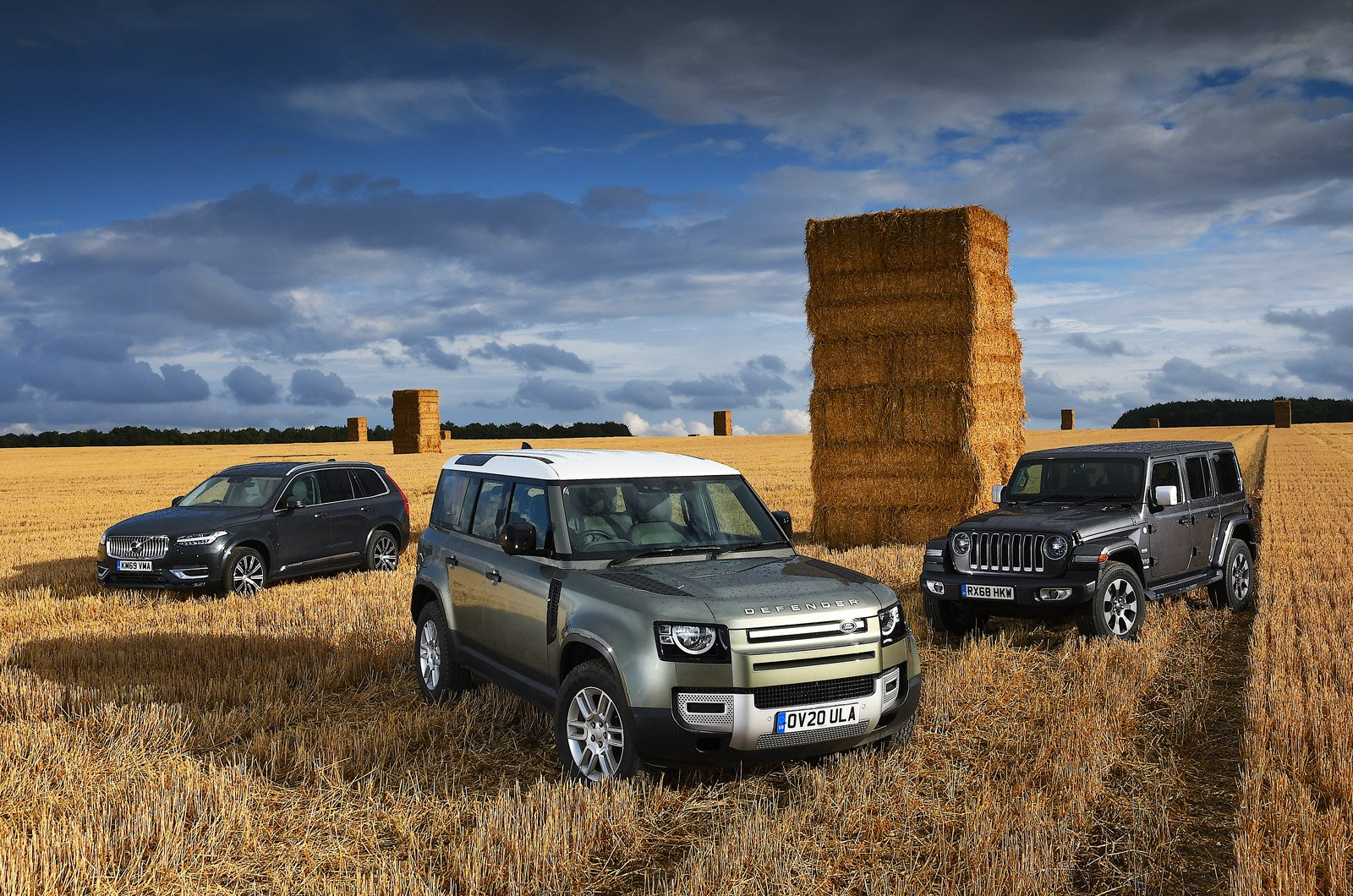 Land Rover Defender vs Volvo XC90 vs Jeep Wrangler header