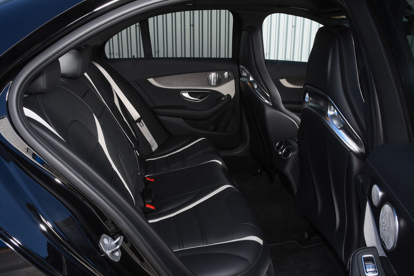 Mercedes C63 S 2020 rear seats