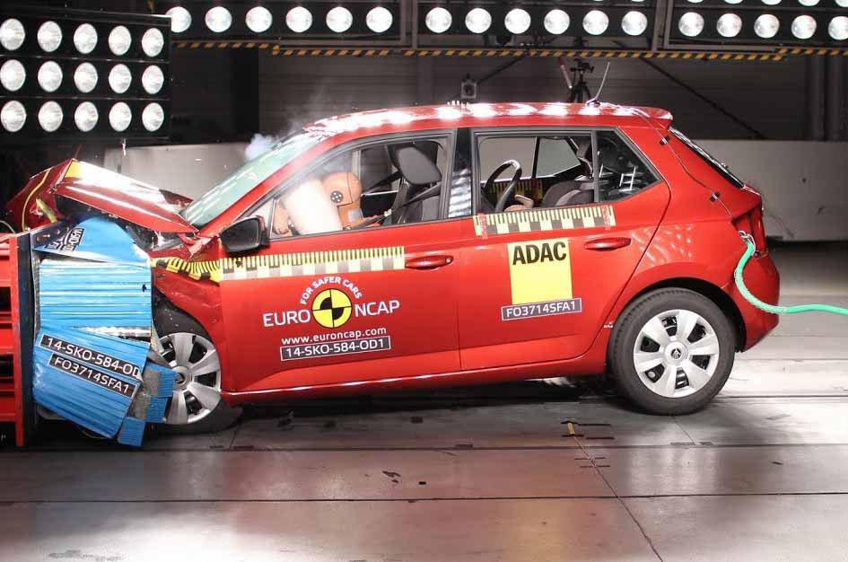 Skoda Fabia Euro NCAP crash test