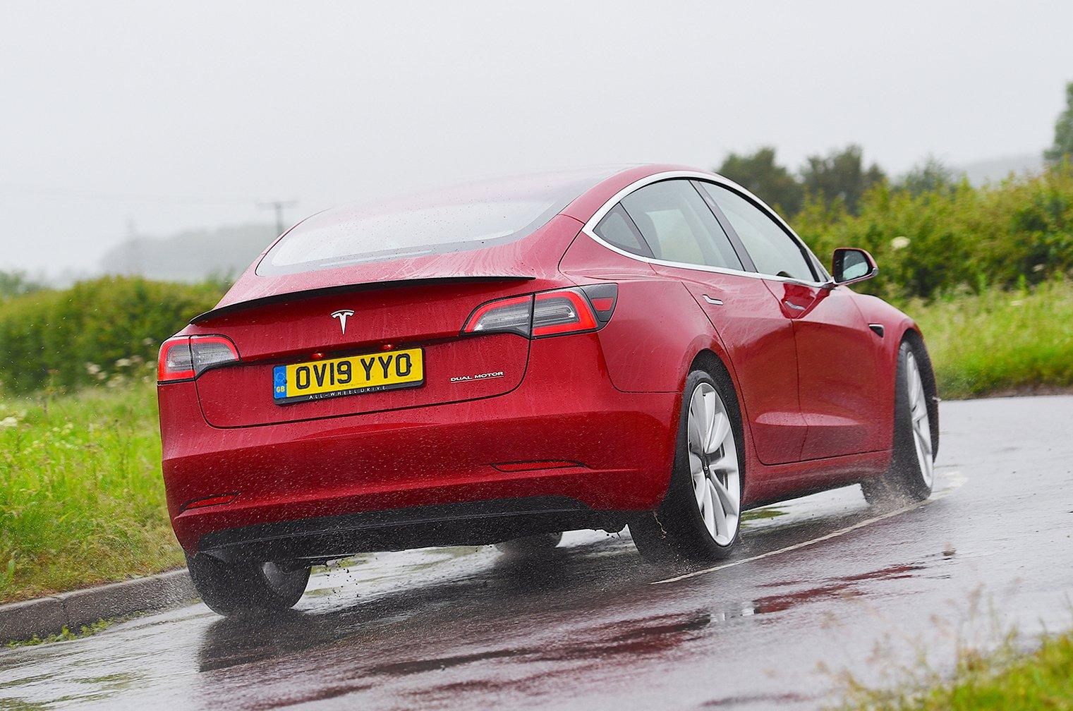 Tesla Model 3 rear action