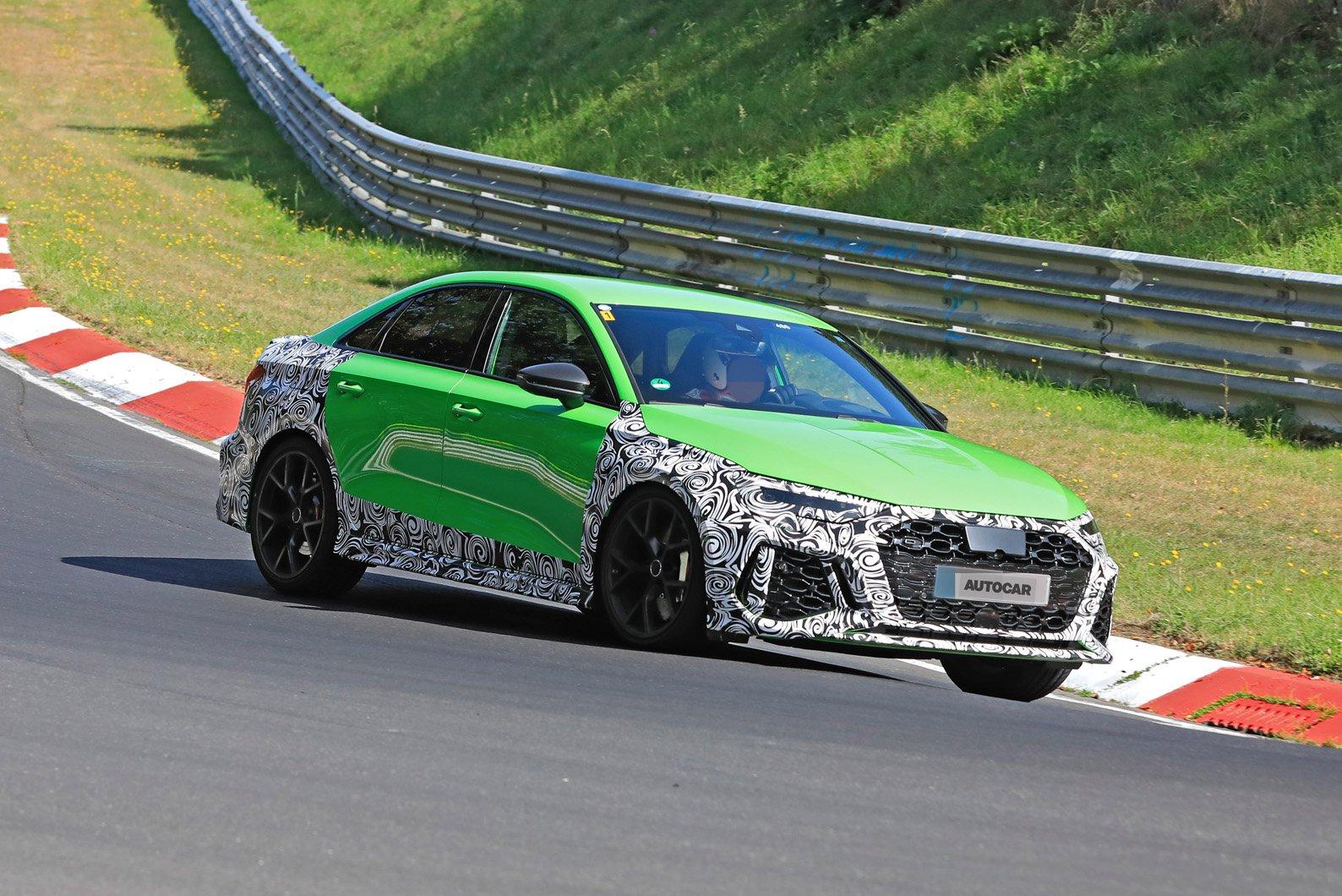 Audi RS3 2021 spy shot