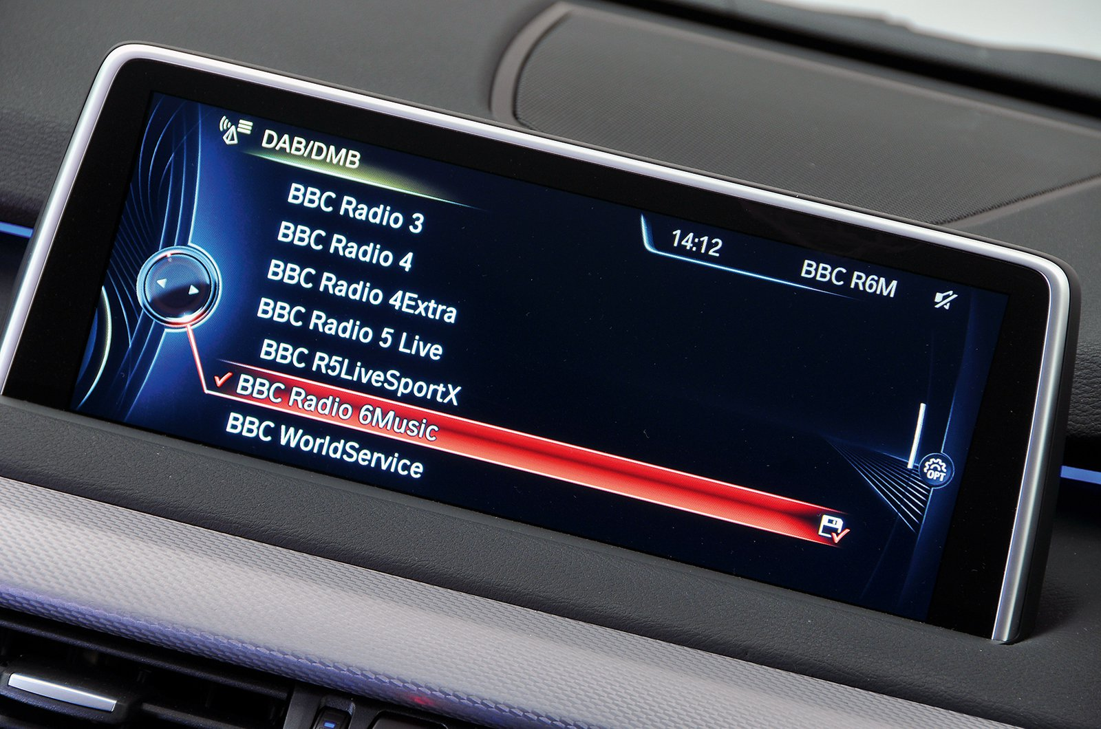 BMW X5 2015 infotainment screen