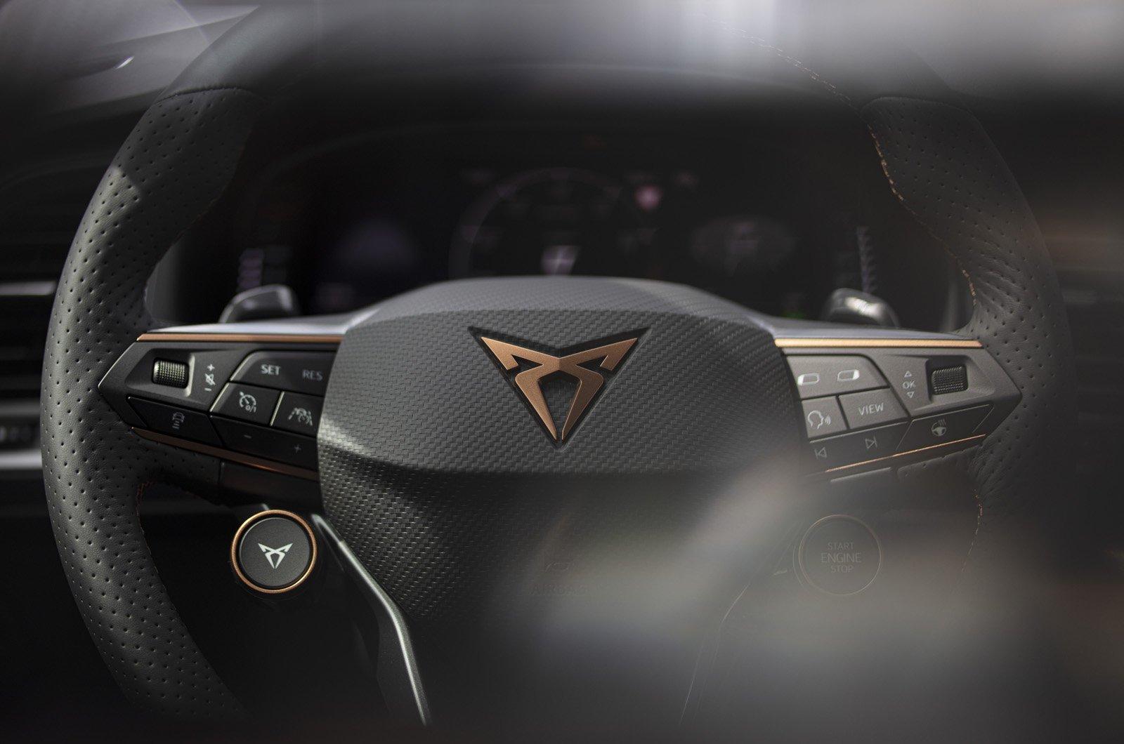 Cupra Ateca 2021 steering wheel