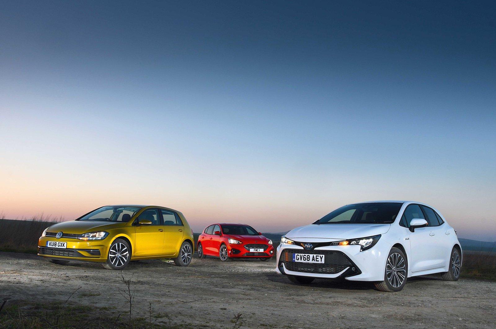 Ford Focus vs Toyota Corolla vs Volkswagen Golf