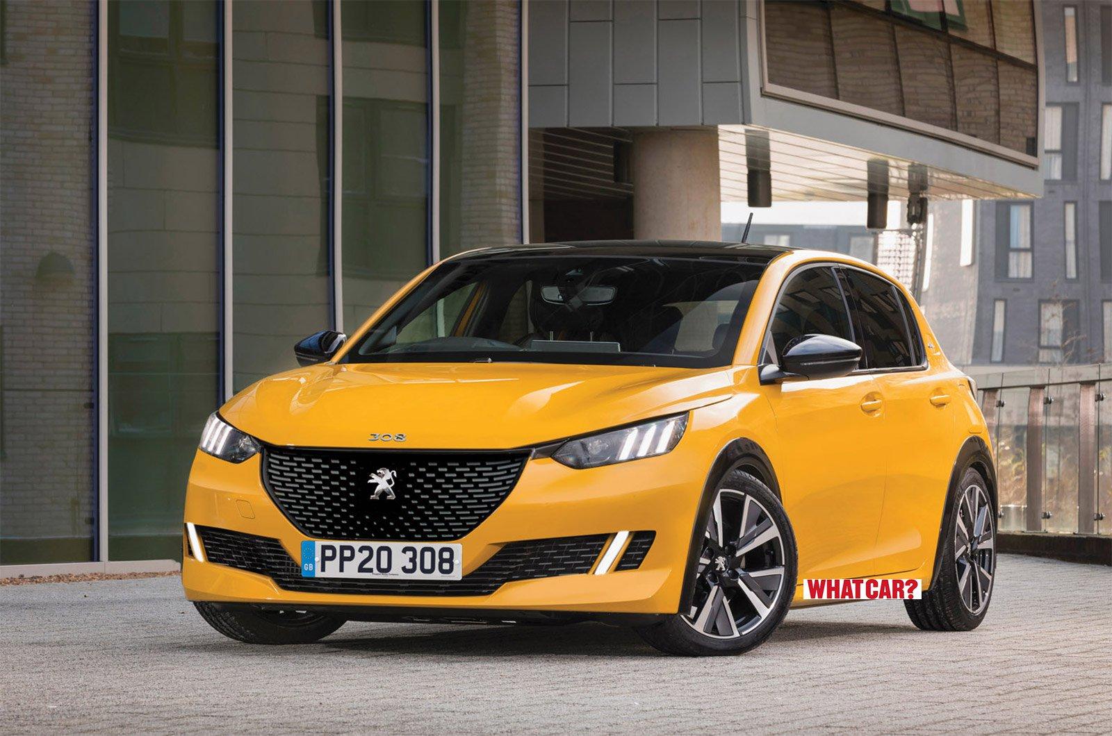 Peugeot 308 2021 render What Car watermark